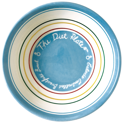The Diet Plate Female Plate and Bowl